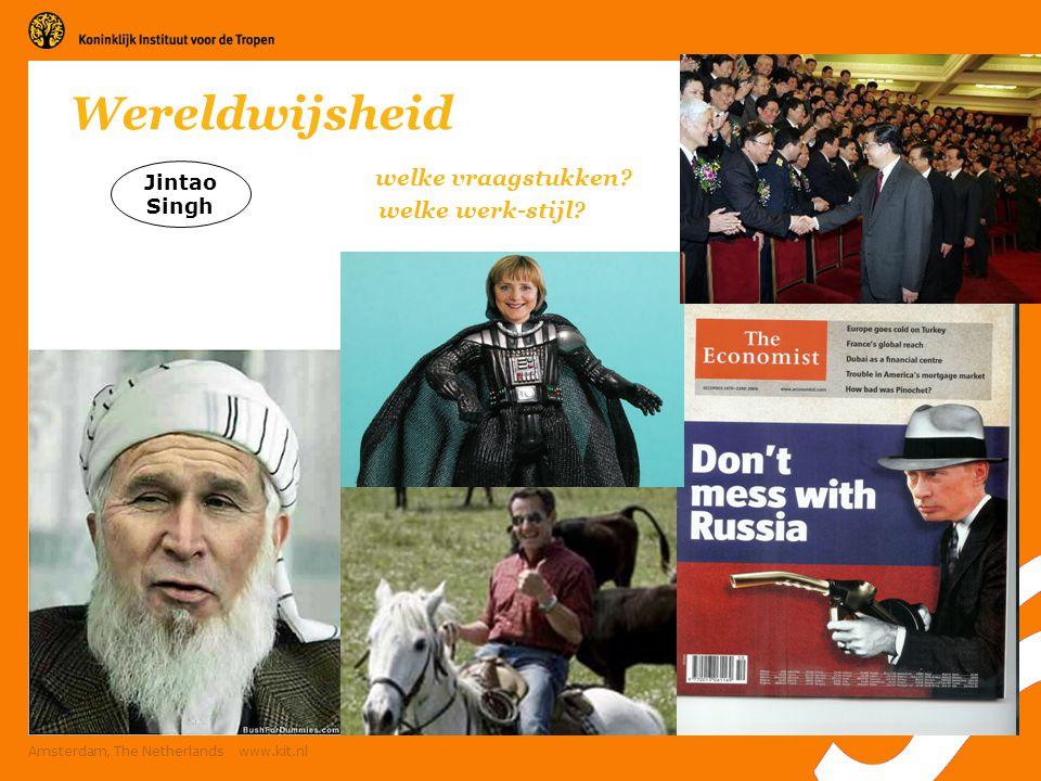 6 Amsterdam, The Netherlands www.kit.nl Welke vraagstukken in het westen.