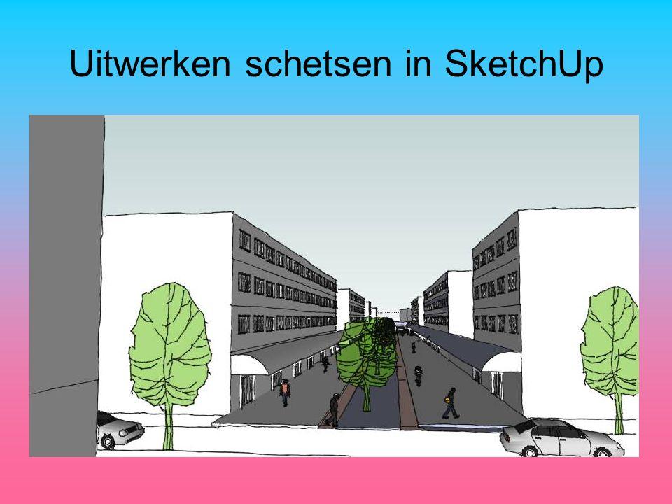 Uitwerken schetsen in SketchUp