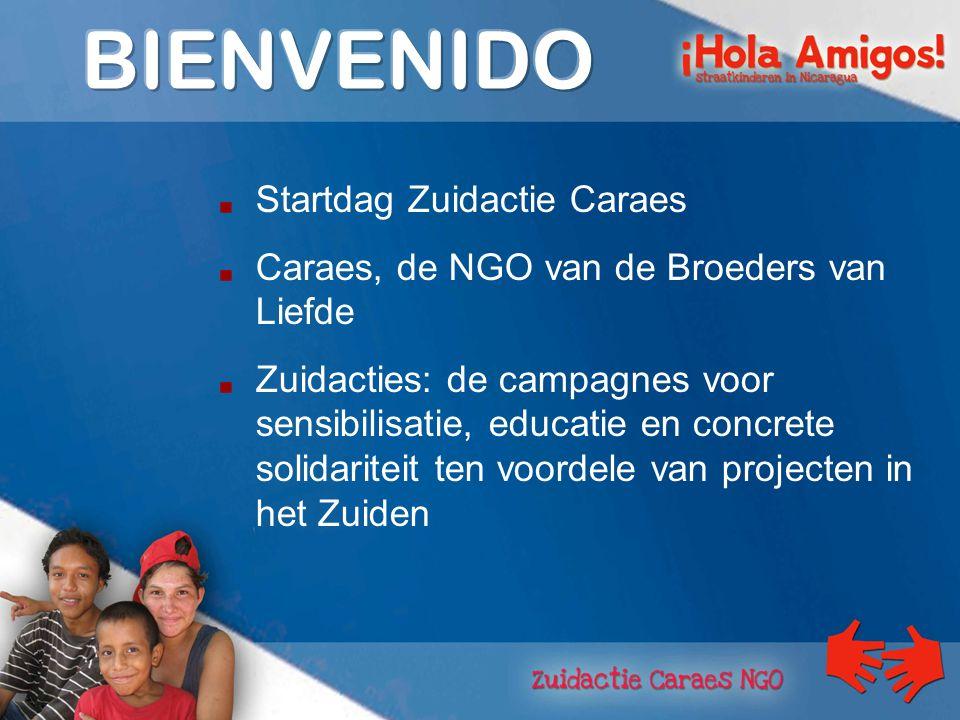 Startdag Zuidactie Caraes Caraes, de NGO van de Broeders van Liefde Zuidacties: de campagnes voor sensibilisatie, educatie en concrete solidariteit ten voordele van projecten in het Zuiden