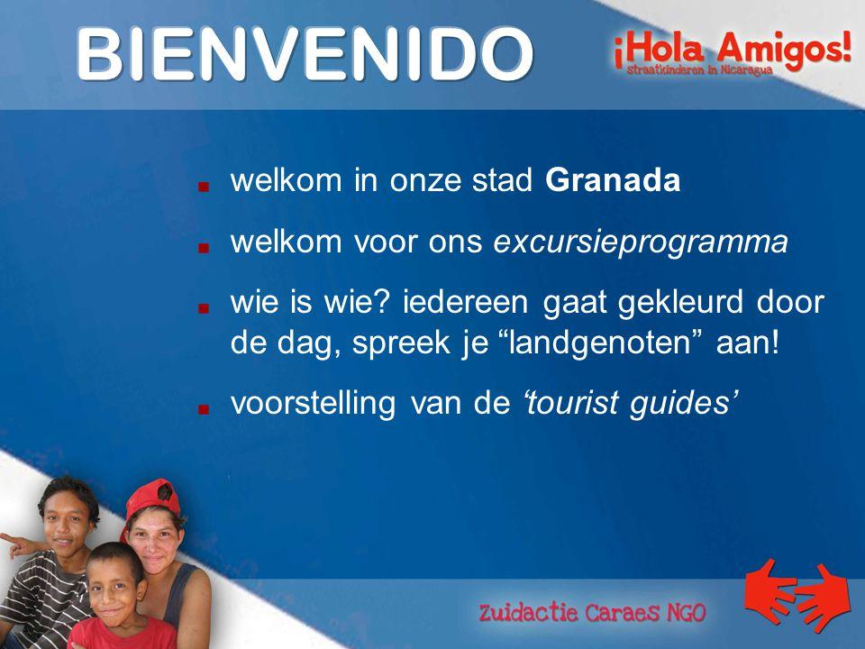 welkom in onze stad Granada welkom voor ons excursieprogramma wie is wie.