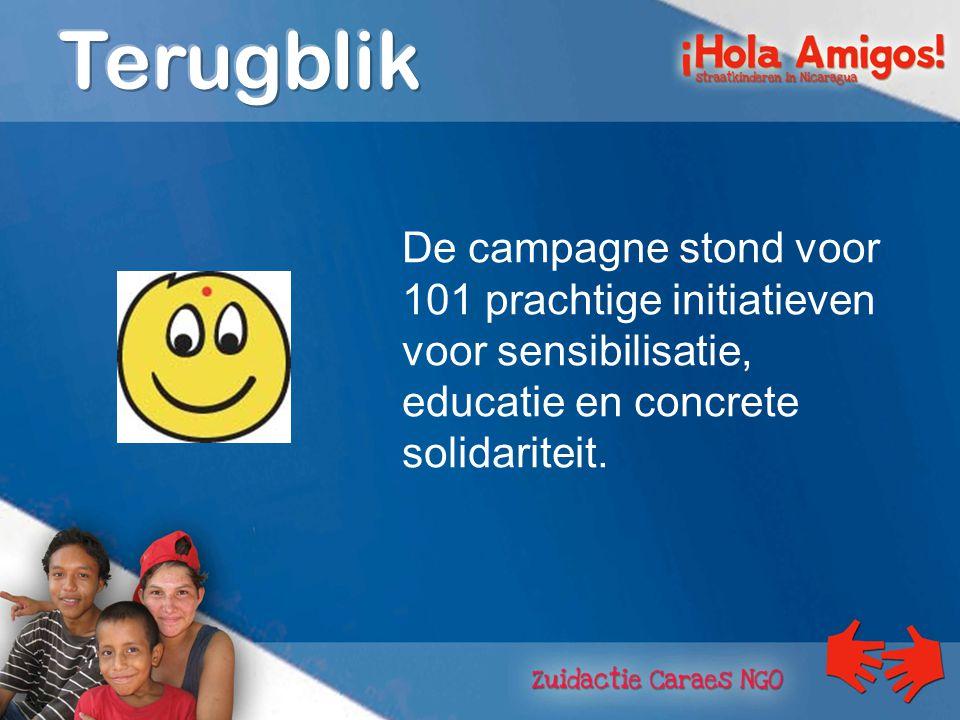 De campagne stond voor 101 prachtige initiatieven voor sensibilisatie, educatie en concrete solidariteit.