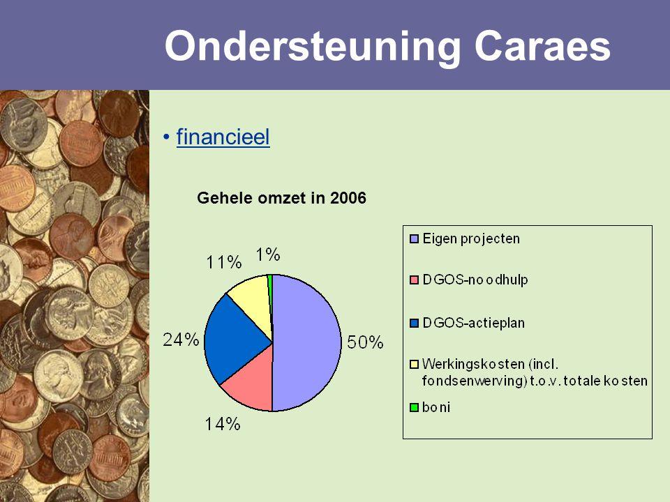 financieel Ondersteuning Caraes Gehele omzet in 2006