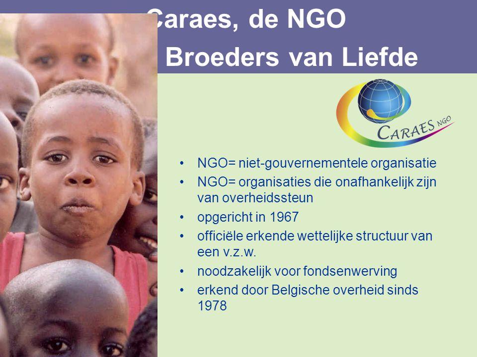 NGO= niet-gouvernementele organisatie NGO= organisaties die onafhankelijk zijn van overheidssteun opgericht in 1967 officiële erkende wettelijke struc