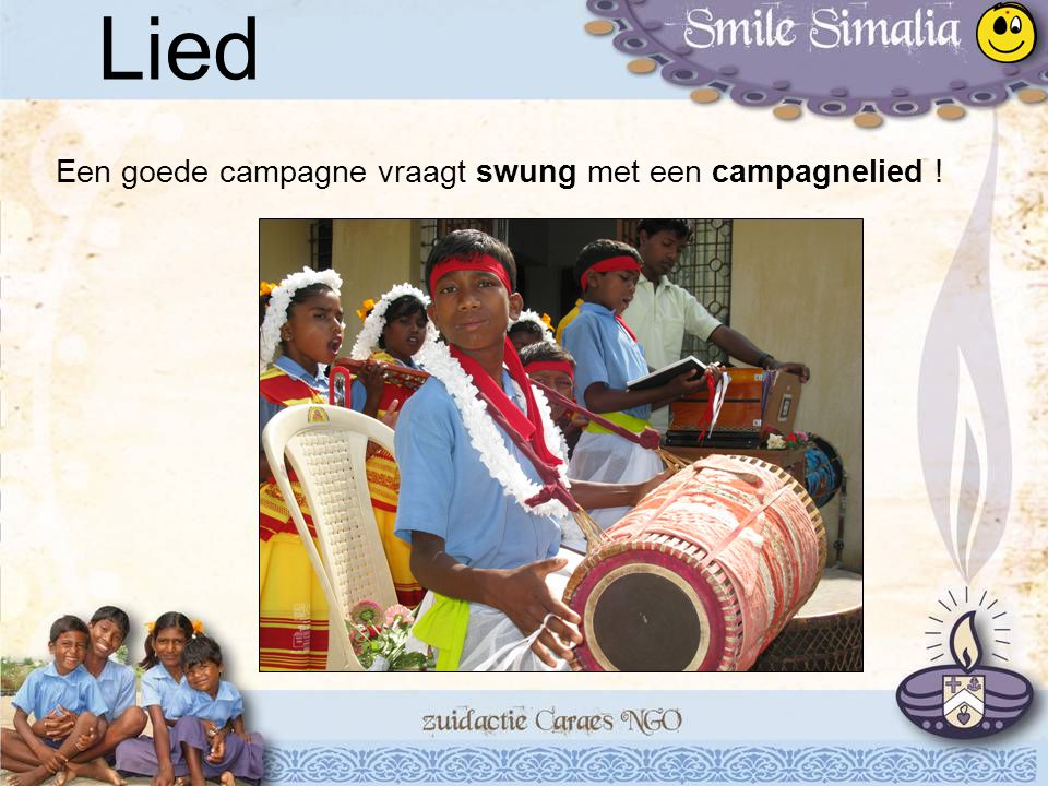 Lied Een goede campagne vraagt swung met een campagnelied !