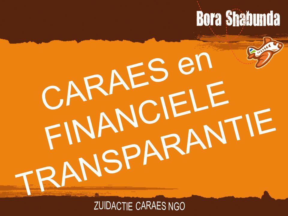 CARAES en FINANCIELE TRANSPARANTIE
