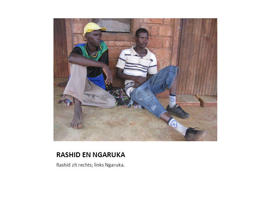 RASHID EN NGARUKA Rashid zit rechts; links Ngaruka.