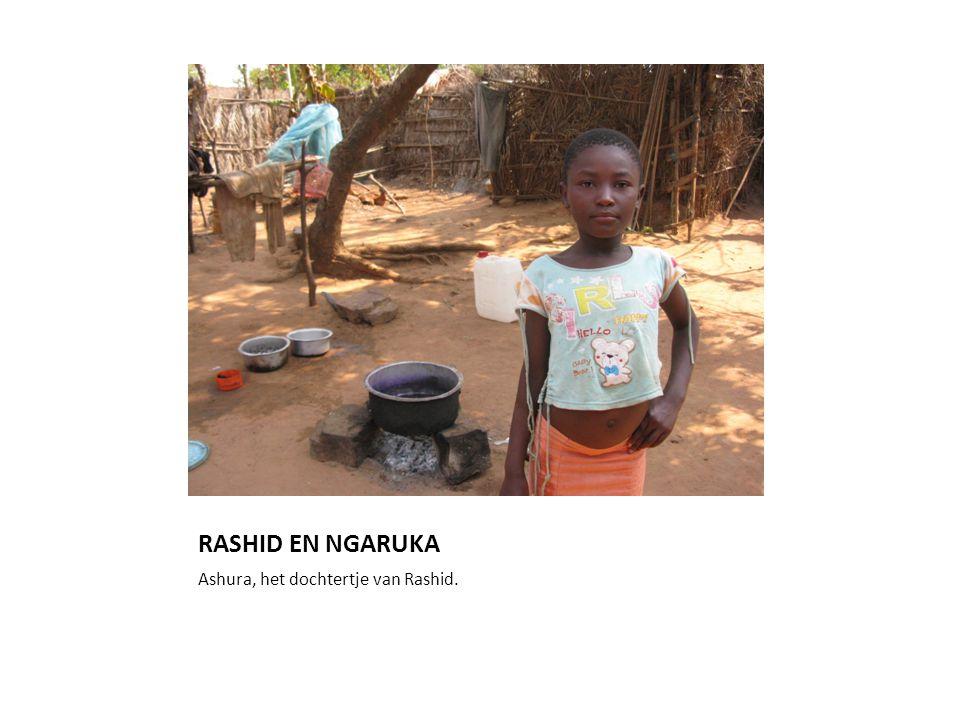 RASHID EN NGARUKA Ashura, het dochtertje van Rashid.