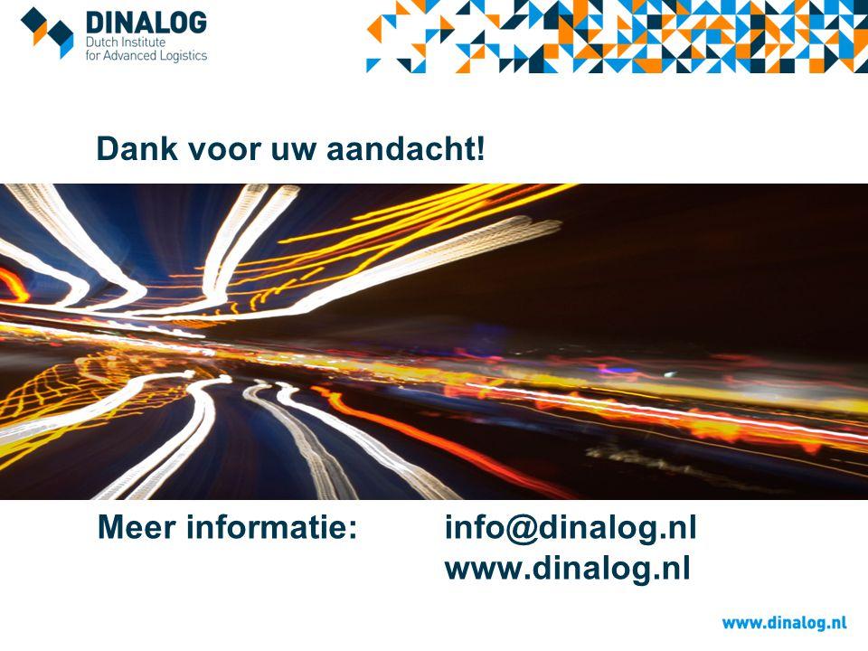 Dank voor uw aandacht! Meer informatie: info@dinalog.nl www.dinalog.nl