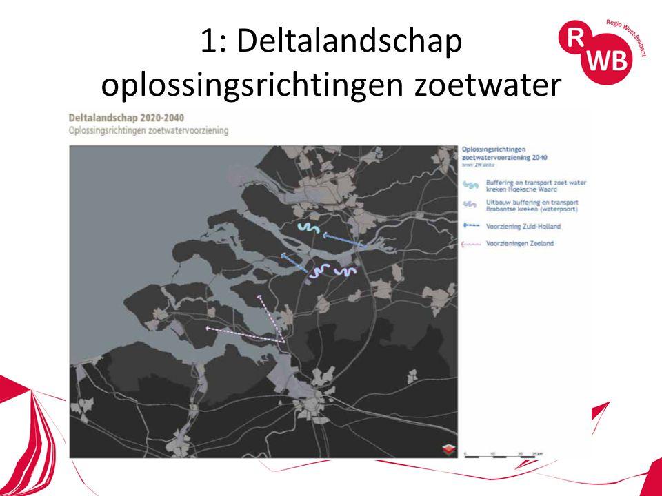 1: Deltalandschap oplossingsrichtingen zoetwater