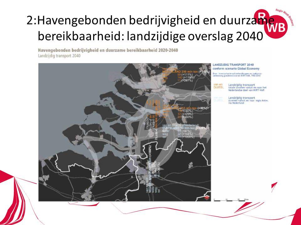 2:Havengebonden bedrijvigheid en duurzame bereikbaarheid: landzijdige overslag 2040