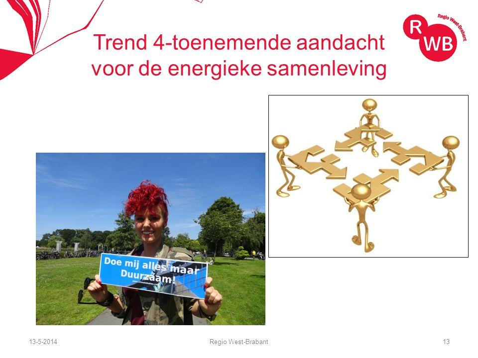 13-5-2014Regio West-Brabant13 Trend 4-toenemende aandacht voor de energieke samenleving