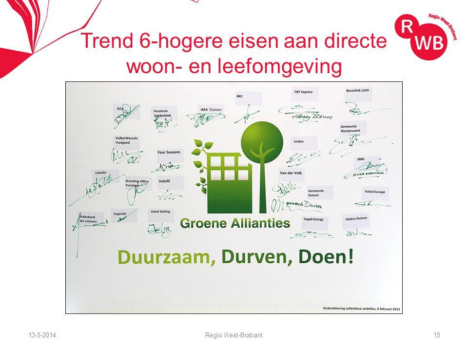 13-5-2014Regio West-Brabant15 Trend 6-hogere eisen aan directe woon- en leefomgeving