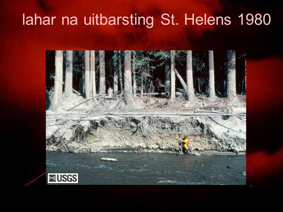 lahar na uitbarsting St. Helens 1980