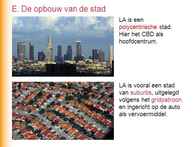 Sommige suburbs zijn gated communities(achter hekken).
