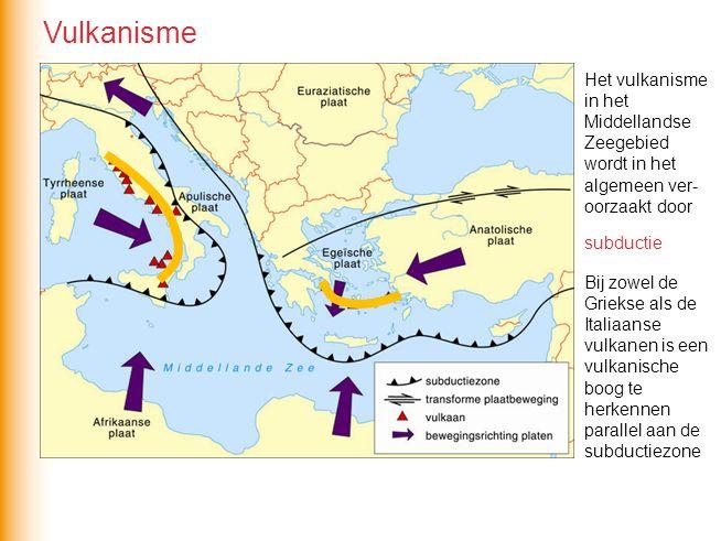 Het vulkanisme in het Middellandse Zeegebied wordt in het algemeen ver- oorzaakt door Bij zowel de Griekse als de Italiaanse vulkanen is een vulkanisc