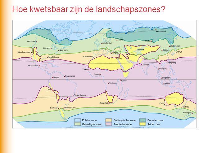 Hoe kwetsbaar zijn de landschapszones?