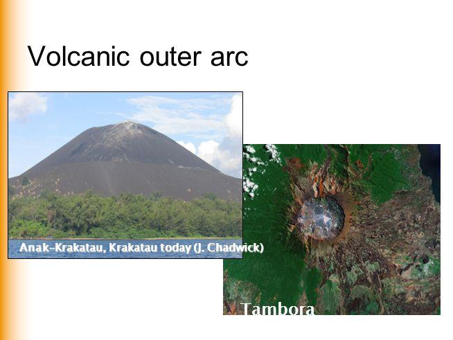 Volcanic outer arc Anak-Krakatau, Krakatau today (J. Chadwick) Tambora