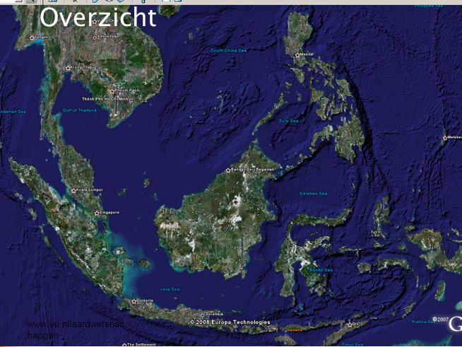www.vu.nl/aardwetenschappen SE Asian and SW Pacific Plate Tectonics 55-0 Ma SE Asian and SW Pacific Plate Tectonics 55-0 Ma © Robert Hall 2001 SOUTHEAST ASIA RESEARCH GROUP Royal Holloway, University of London Geologische ontwikkeling