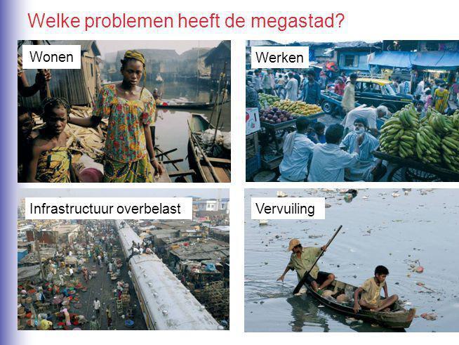 Werken Infrastructuur overbelastVervuiling Wonen Welke problemen heeft de megastad?