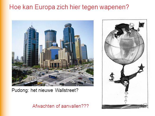 Afwachten of aanvallen??? Pudong: het nieuwe Wallstreet? Hoe kan Europa zich hier tegen wapenen?