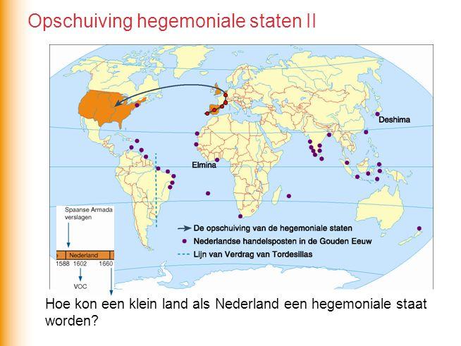 Hoe kon een klein land als Nederland een hegemoniale staat worden? Opschuiving hegemoniale staten II