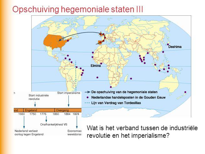 Wat is het verband tussen de industriële revolutie en het imperialisme? Opschuiving hegemoniale staten III