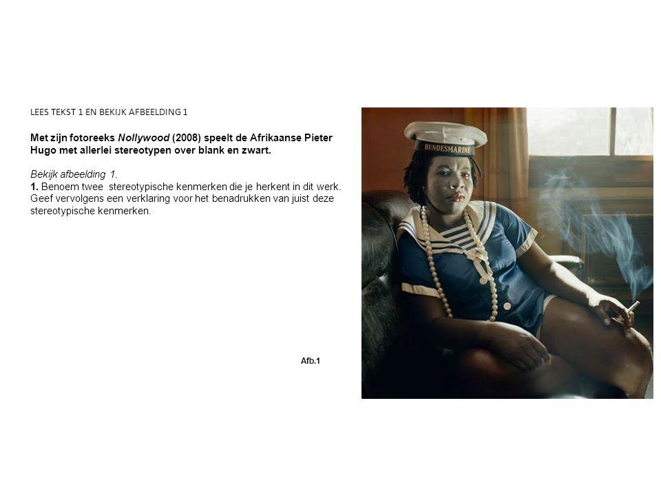 Met zijn fotoreeks Nollywood (2008) speelt de Afrikaanse Pieter Hugo met allerlei stereotypen over blank en zwart.