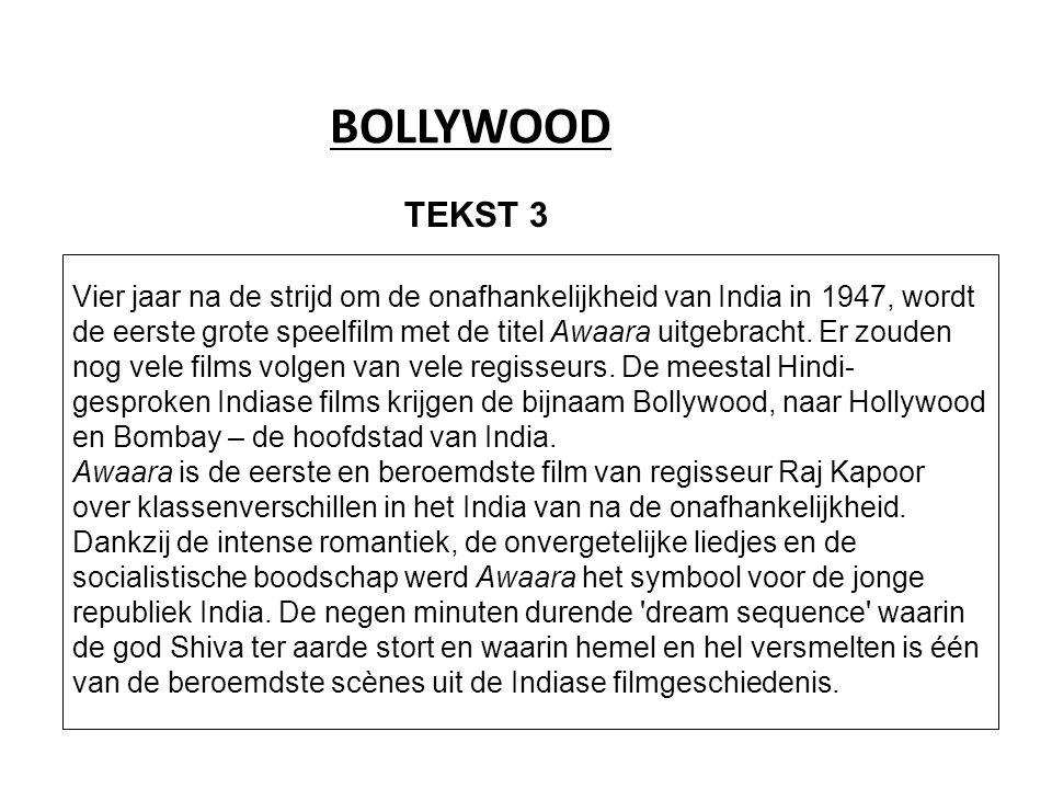 BOLLYWOOD Vier jaar na de strijd om de onafhankelijkheid van India in 1947, wordt de eerste grote speelfilm met de titel Awaara uitgebracht.