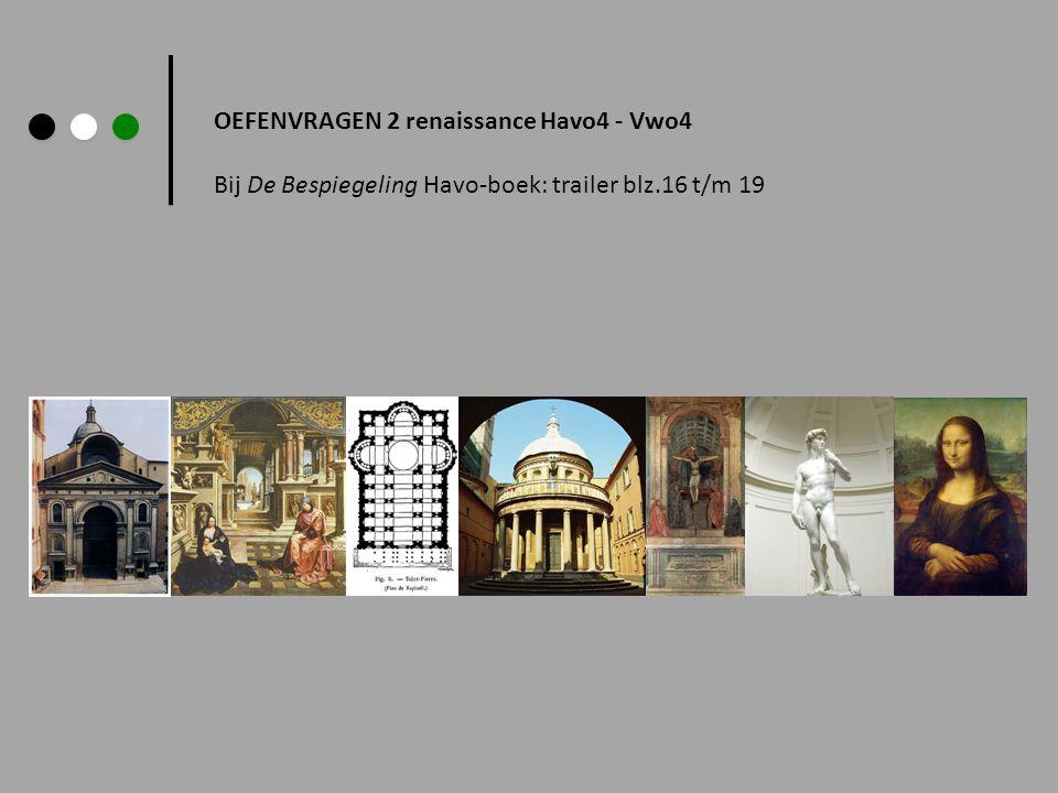 In de renaissanceperiode werden weer klassieke beelden gehouwen en in de schilderkunst werd veel realistischer gewerkt (denk ook aan de realistische kleuren, de anatomie van de afgebeelde personen, de exacte afbeeldingen en aan het perspectief) < Afb.1 Jan Gossaert St.Lucas schildert het portret van Maria Vraag 1: Benoem drie aspecten die bijdragen aan het realisme van afbeelding 1.
