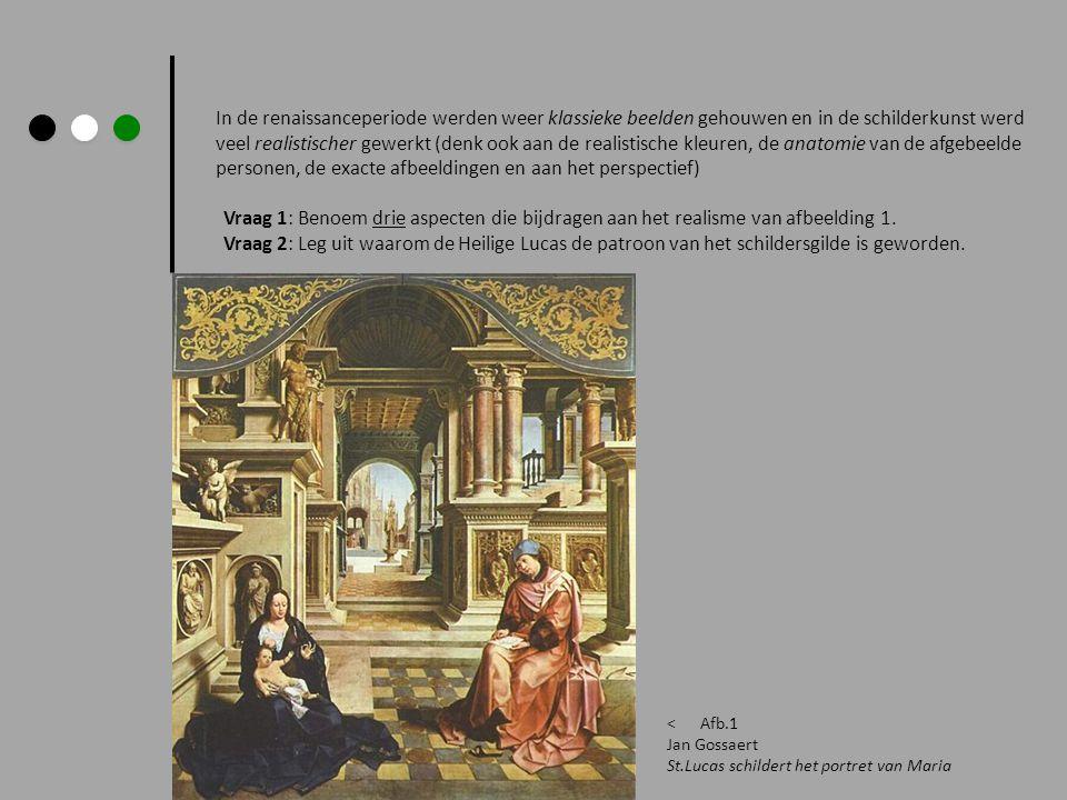 In de renaissanceperiode werden weer klassieke beelden gehouwen en in de schilderkunst werd veel realistischer gewerkt (denk ook aan de realistische k