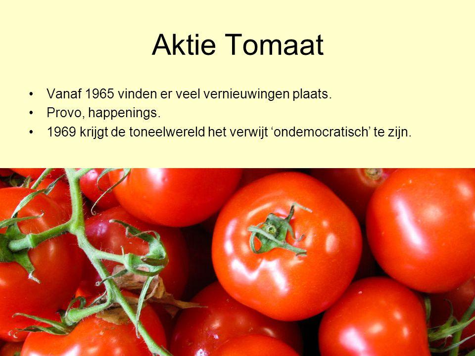 Aktie Tomaat Vanaf 1965 vinden er veel vernieuwingen plaats.