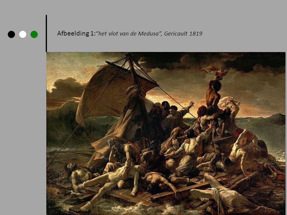 """Afbeelding 1: """"het vlot van de Medusa"""", Gericault 1819"""