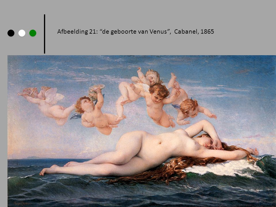 Afbeelding 21: de geboorte van Venus , Cabanel, 1865