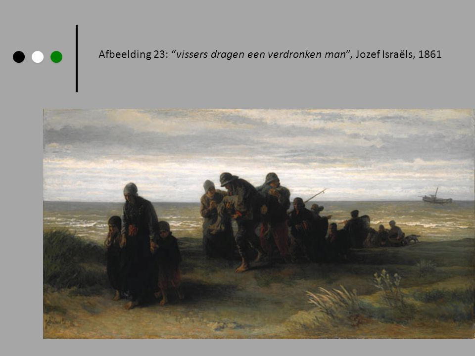 Afbeelding 23: vissers dragen een verdronken man , Jozef Israëls, 1861