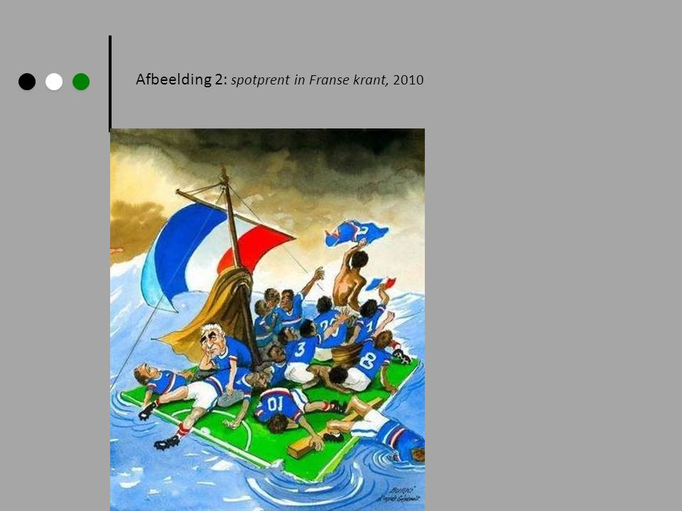Afbeelding 2: spotprent in Franse krant, 2010