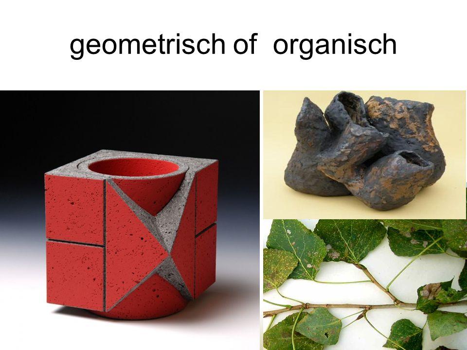 geometrisch of organisch