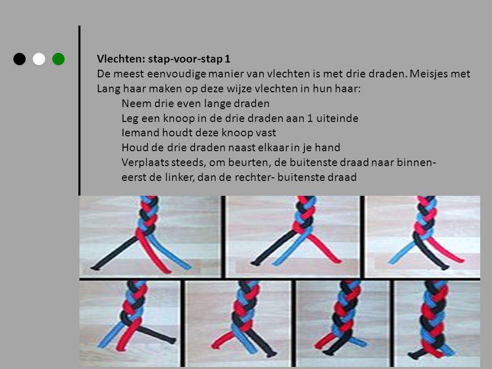 Vlechten: stap-voor-stap 1 De meest eenvoudige manier van vlechten is met drie draden. Meisjes met Lang haar maken op deze wijze vlechten in hun haar: