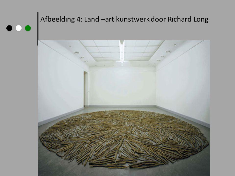 Afbeelding 5: Land –art kunstwerk door Richard Long