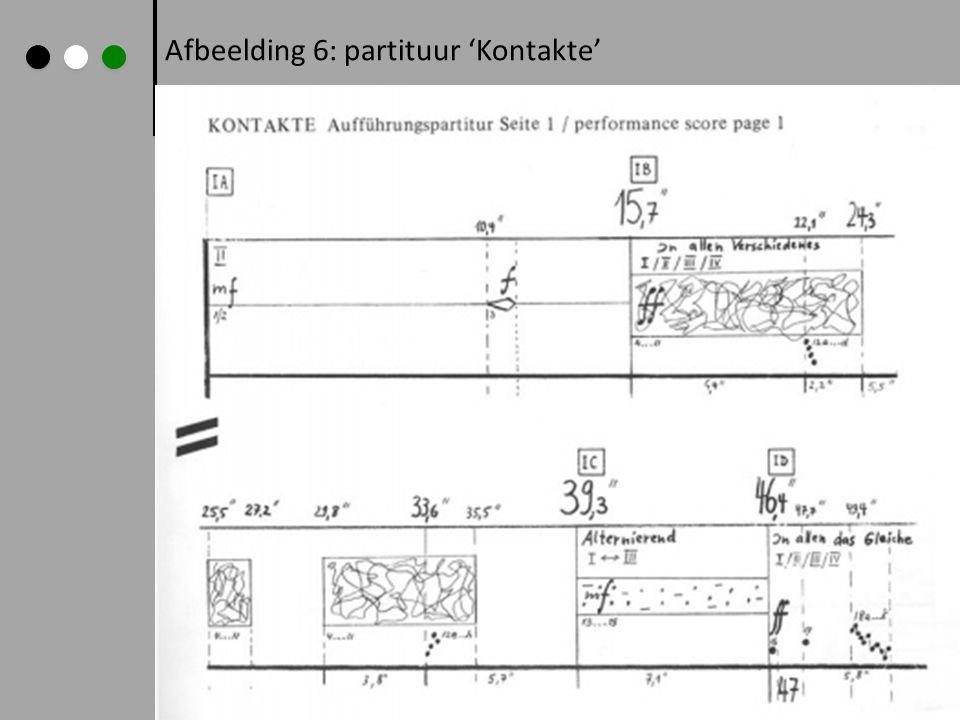 Afbeelding 6: partituur 'Kontakte'