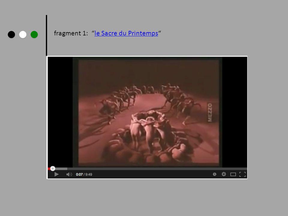 fragment 1: le Sacre du Printemps le Sacre du Printemps