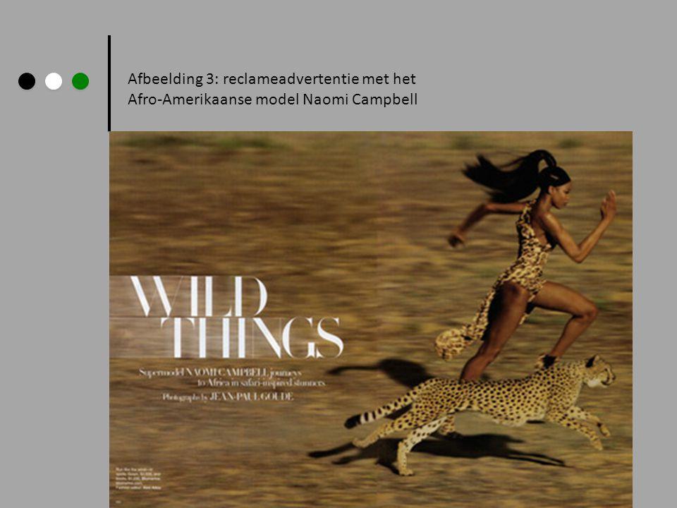 Afbeelding 3: reclameadvertentie met het Afro-Amerikaanse model Naomi Campbell