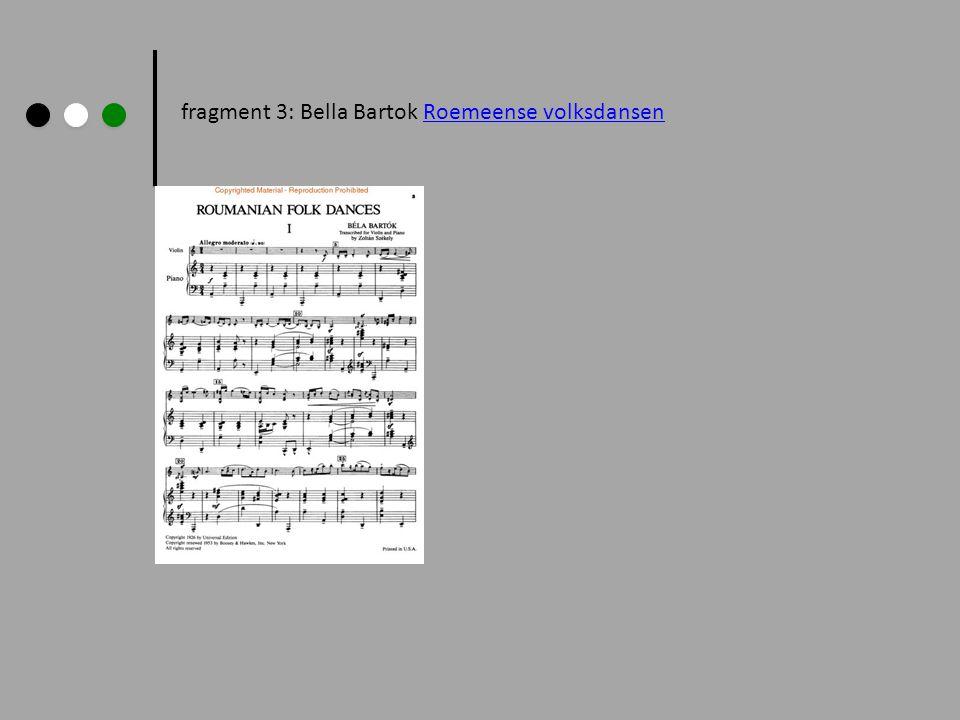 fragment 3: Bella Bartok Roemeense volksdansenRoemeense volksdansen