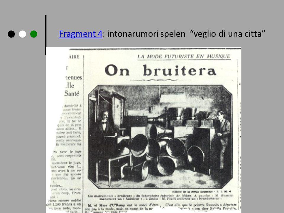 "Fragment 4Fragment 4: intonarumori spelen ""veglio di una citta"""