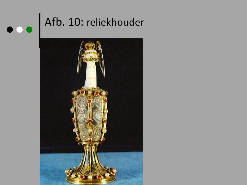 Afb. 10: reliekhouder