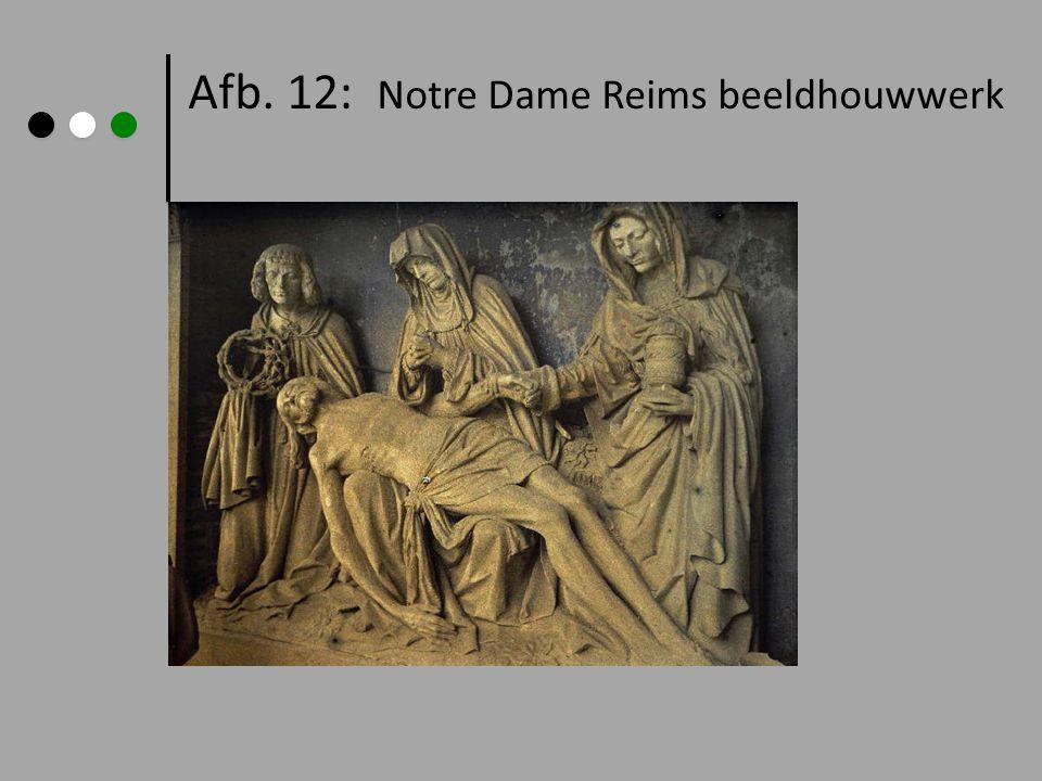 Afb. 12: Notre Dame Reims beeldhouwwerk