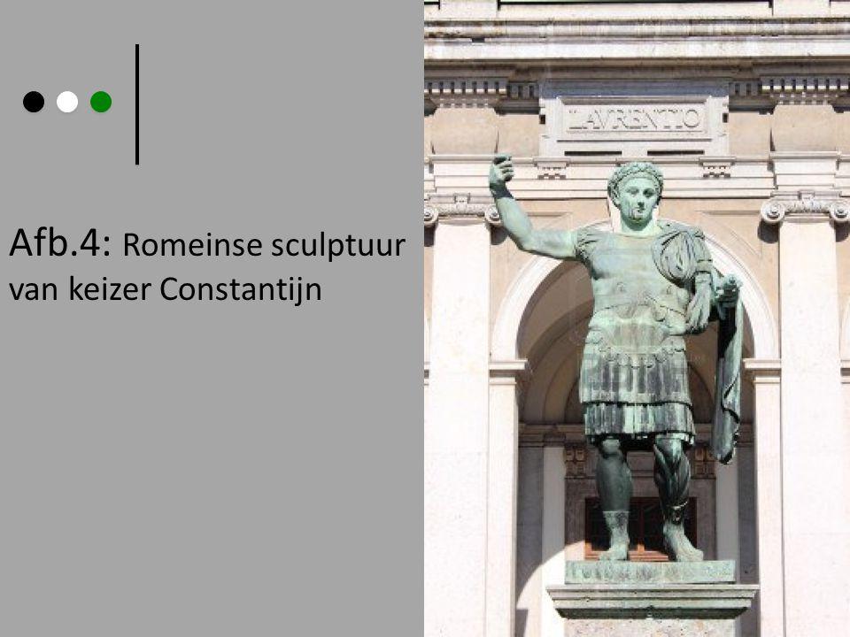 Afb.4: Romeinse sculptuur van keizer Constantijn