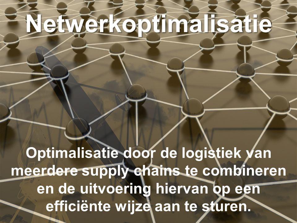 The new standard in Logistics Optimalisatie door de logistiek van meerdere supply chains te combineren en de uitvoering hiervan op een efficiënte wijze aan te sturen.