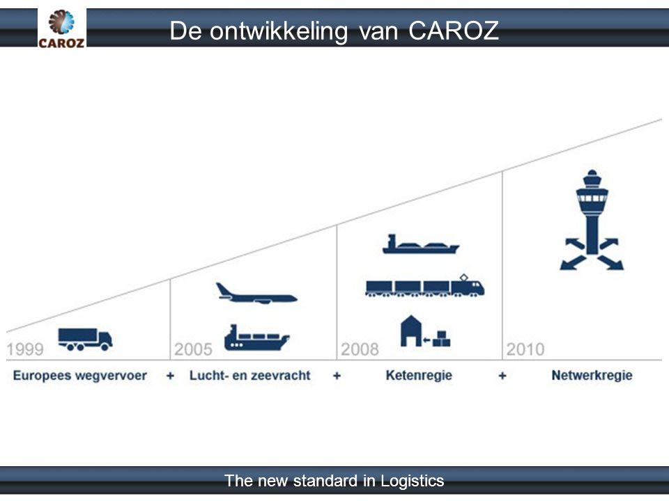 The new standard in Logistics Als neutrale regisseur wil caroz de traditionele logistieke wereld op een innovatieve wijze duurzaam verbeteren.