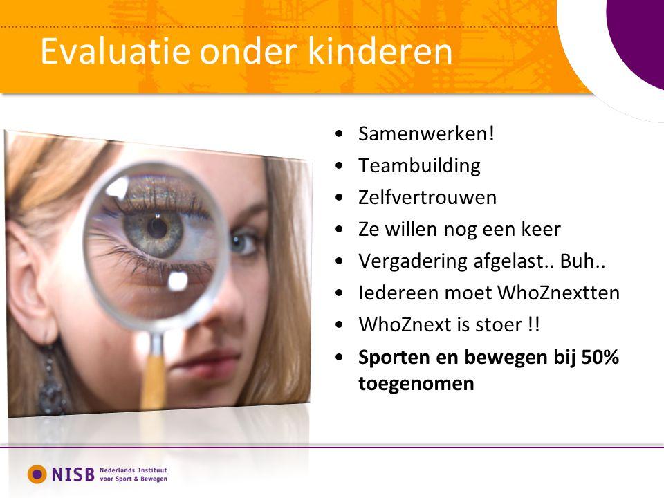 Evaluatie onder kinderen Samenwerken.