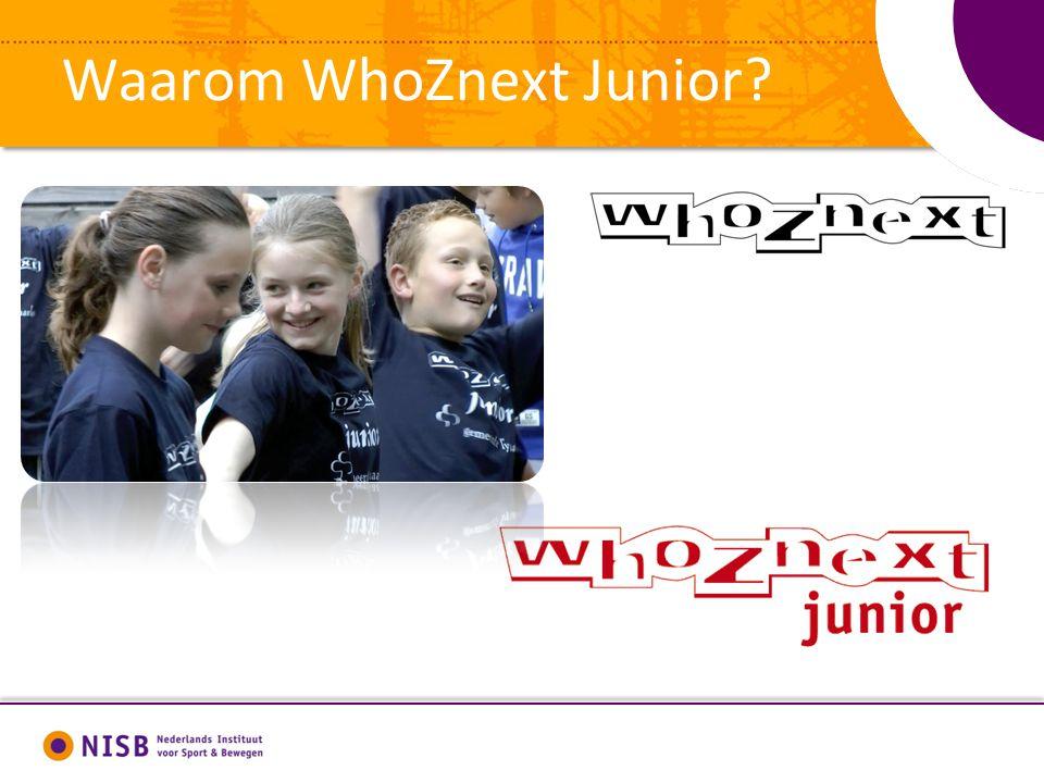 Waarom WhoZnext Junior?
